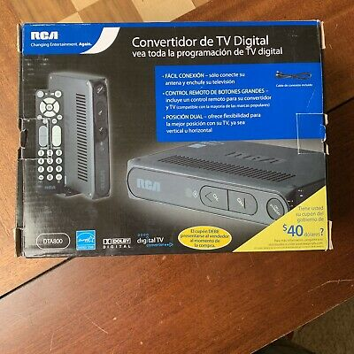 RCA DTA-800B1 Digital To Analog Pass-through TV Converter Box with Remote NEW
