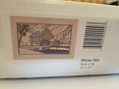 Woodscapes of America Collection Winter Mill #38 gallery Art kit Unopened new