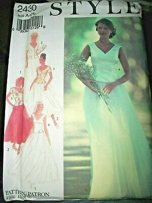 Style 2430 Pattern SIMPLICITY SKIRT TOP Wedding Gown UNCUT Size 6-8-10-12-14-16