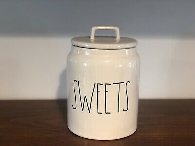 Rae Dunn Artisan Collection By Magenta SWEETS Farmhouse Chubby Canister VHTF
