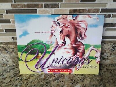1 Book Scholastic Paperback Unicorns Magical Creatures from Myth and Fiction NEW