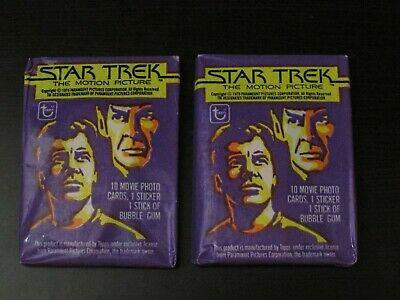 Lot of (2) 1979 Topps Star Trek The Motion Picture Unopened Wax Packs CC15