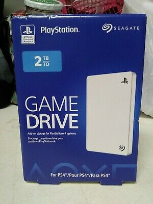 Seagate 2TB White External Hard Drive USB3 for PS4 Playstation STGD200102 NEW