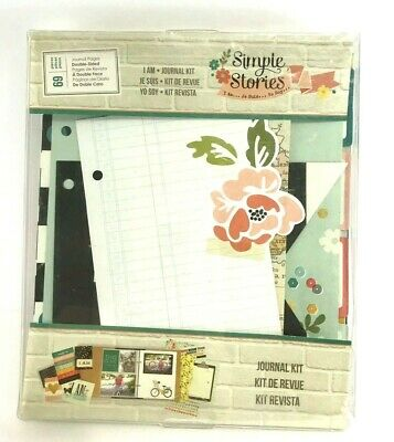SIMPLE STORIES I AM Journal Kit Pages Inserts 69 Pages