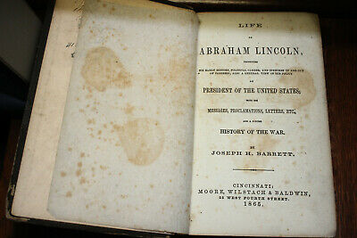 Life of Abraham Lincoln by Joseph H. Barrett 1864 ~ Biography ~ First Edition HB