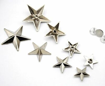 100 pcs Star Rivet Stud Bag Leather Clothing Hardware DIY Craft (15 17 19 22mm)