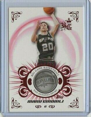 2006-07 Topps Big Game Manu Ginobili Red 98/129 #55 San Antonio Spurs