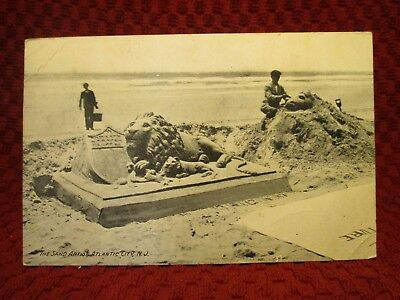 1912. The Sand Artist, Atlantic City, Nj Postcard G7