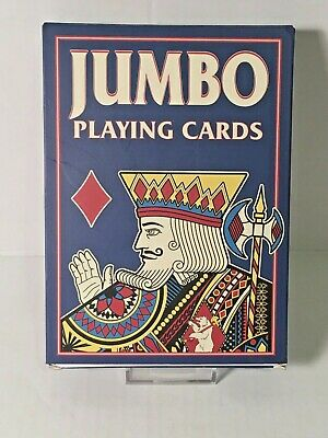 """Giant Super Jumbo 5"""" X 7"""" Playing Cards Nice Quality Large Huge Party Card Trick"""