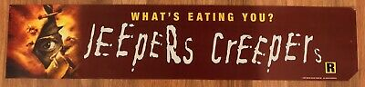 ⭐ Jeepers Creepers - Movie Theater Poster / Mylar LARGE - Double-Sided DS