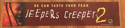 ⭐ Jeepers Creepers 2 - Movie Theater Poster / Mylar LARGE - Double-Sided DS