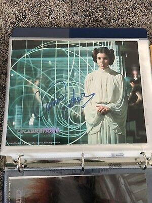 Star Wars Carrie Fisher Princess Leia Signed Autographed Celebration 2 C2 Rare