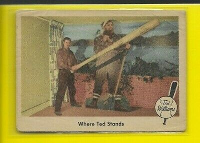 1959 Fleer Ted Williams Boston Red Sox Where Ted Stands #79 🤩🚀