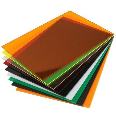 A4 Transparent Acrylic Plexiglass Tinted Sheets Plate Panel DIY Crafts Supplies