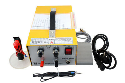 2in1 30A Pulse Sparkle Spot Welder Gold Silver Platinum Jewelry Welding Machine