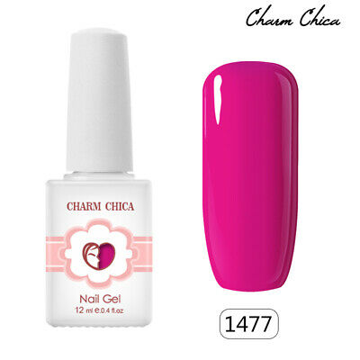 CHARM CHICA Summer Neon Color Gel Nails Polish Soak Off UV Varnish 12ml #1477