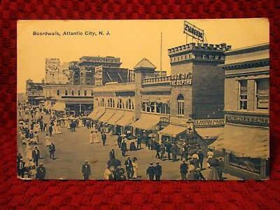 1910. Boardwalk, Fralinger's, Cigar Shop. Atlantic City, Nj Postcard G9