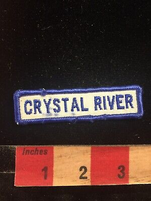 Vintage CRYSTAL RIVER State Park Florida Tab Patch 80NC