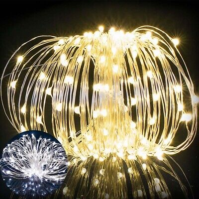 Battery Operated 10~100 LED Waterproof Copper Wire Leds String Fairy Lights Xmas