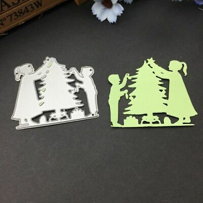 Christmas Tree Boy Girl Cutting Dies Stencil DIY Scrapbooking Paper Card Decor