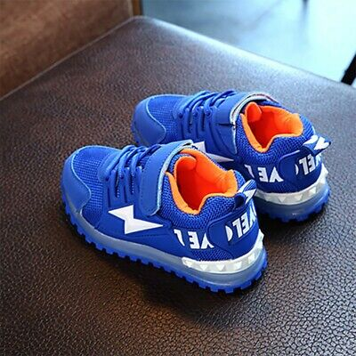 Kids Boys Girls LED Light Up Sneakers Kids Glowing Trainers Shoes AU