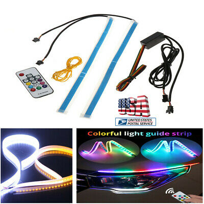 SEQUENTIAL 60CM LED Headlight Slim Strip Lights DRL Running Flow