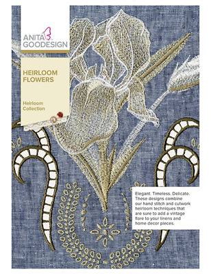 Anita Goodesign Machine Embroidery Collection - Heirloom Flowers