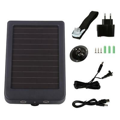 Solar Power Solar Panel Battery Charger External Power For Hunting Camera