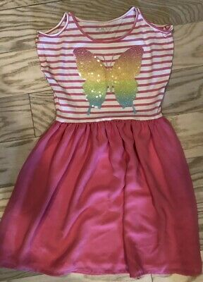 The Childrens Place Sequin Butterfly Dress, Size L (10/12) EUC Worn Once