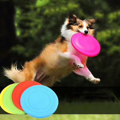 Soft Silicone Rubber Frisbee Dog Toy Flying Disc Folding Training Pet Supplies