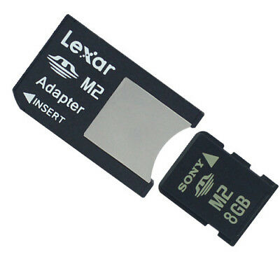 Promotion!! 8GB Sony M2 Card Memory Card With M2 to Memory Stick Pro Duo Adapter