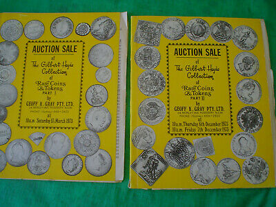 TEN 1970's COIN AUCTION CATALOGUES GEOFF K GRAY 3 HEYDE COLLECTION ONE SPINKS
