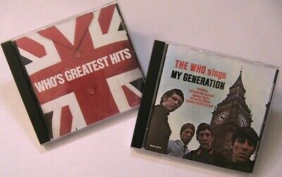 The Who 2 CD Lot Greatest Hits MCAD-1496 Sings My Generation MCAD-31330 Analog