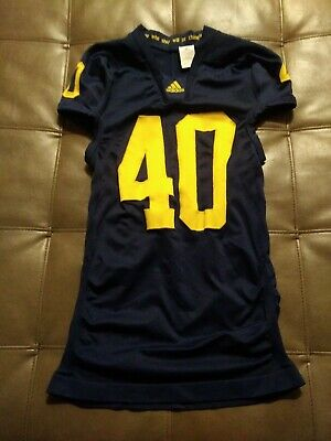best authentic a8103 34630 MICHIGAN WOLVERINES GAME Worn Used Football Jersey - Nike ...