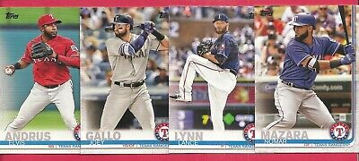 2019 Topps Series 1, 2 Texas Rangers Base Team Set, 19 cards, Joey Gallo, Andrus