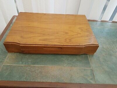Empty Vintage Wooden Cutlery Canteen Box