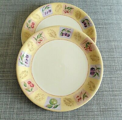 """Marks & Spencer *Wild Fruits* Two 11"""" Dinner Plates #Excellent Condition#"""