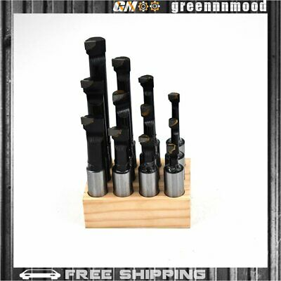 "New 3/4"" Boring Bar Set 12 pcs C6 Carbide Tipped Bars 3/4 Shank Lathe Tool USA"