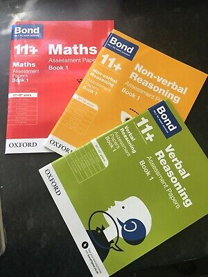 Bond 11 Plus Assessment Papers Maths Verbal Reason  Year 3 book set