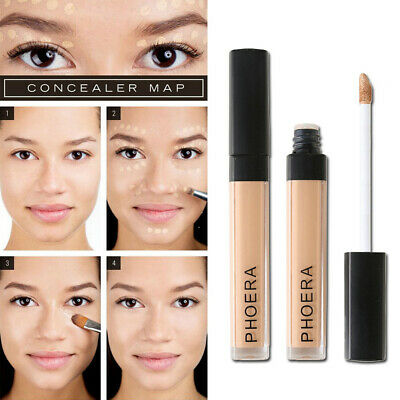 New Soft PHOERA Foundation Concealer Make Up Brighten Matte Full Coverage Liquid