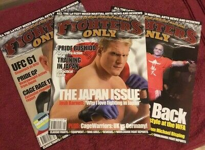Fighters Only Magazines Issues 16 / 17 / 18 (UFC/PRIDE/MMA)