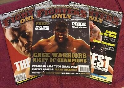 Fighters Only Magazines Issues 10 / 11 / 12 (UFC/PRIDE/MMA)