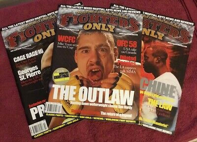 Fighters Only Magazines Issues 13 / 14 / 15 (UFC/PRIDE/MMA)