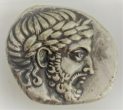 Very Fine Ancient Greek Ar Silver Tetradrachm Coin Philip Of Macedonia 14.22G