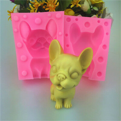 3D Pet Lucky Dog DIY Silicone Cake Fondant Cookies Chocolate Decorate Mold Tool*