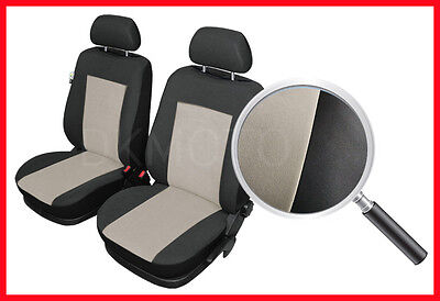 CAR SEAT COVERS pair for front seats fit Ford Mondeo - black/beige