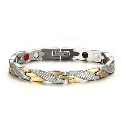 Therapeutic Energy Healing Bracelet Stainless Steel Therapy Magnetic Bracelet