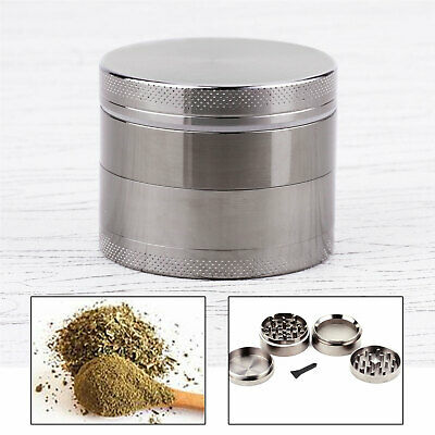 Motif Herbe Carbone 50MM Epice Broyeur a main Moulin pollen 4 couches Grinder