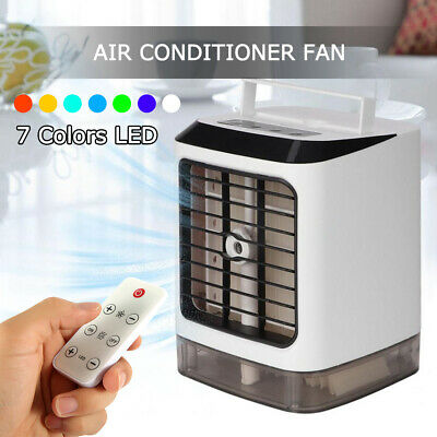 Portable Mini Air Cooling Conditioner USB Air Cooler Water Tank Fan Humidifier.