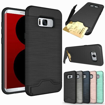 Shockproof Wallet Credit Card Holder Case Cover for Samsung Galaxy S8 / S8+ Plus